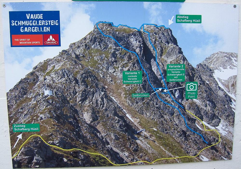 Vaude Klettersteig : Klettersteig gargellen